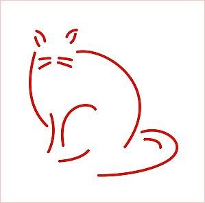 J - 51 : les cris des animaux  dans Mai 2012 Chat-stylise
